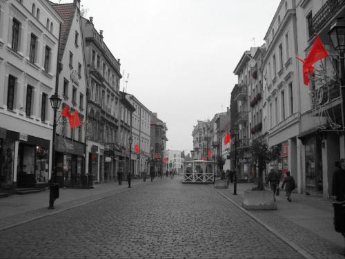 miasto oflagowane #toruń #thorn #ulica #flagi