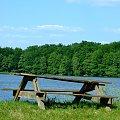 #ławka #stół #jezioro #krajobraz