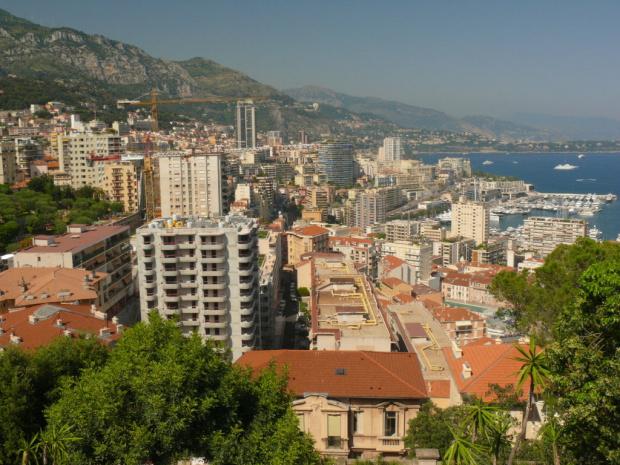 Monte Carlo widziane z Jardin Exotique #MonacoIMonteCarlo