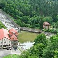 Elektrownia na zaporze Jeziora Pilchowickiego #rower #DolinaBobru #JezioroPilchowickie #zapora #tama