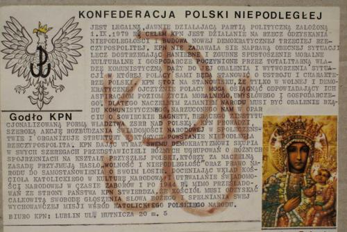 Ulotka informacyjna z 1980 r.
