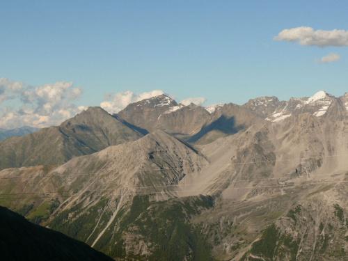 Passo dello Stelvio - widok na Alpy #PassoDelloStelvio